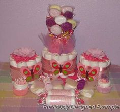 Baby-Girl-Shower-Gifts.JPG - Butterfly Diaper Bouquet & Gifts