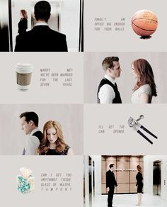 Harvey and Donna. This show stresses me out but I can't stop watching it.