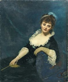"""Carolus-Duran: """"Portrait de Mrs Harry Vane Milbank"""", née Alice Van den Bergh, 1877, oil on canvas, private collection.   coll. part."""
