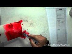 Farbe und Salz auf Aquarellpapier (Effekt wie bei Seidenmalerei)