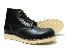 Red Wing 9870 Round-Toe Black Leather Boots RW-9874  $ 309.04 (¥ 36,720)