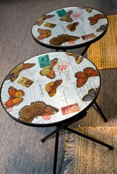 Butterfly tables from Åhlens