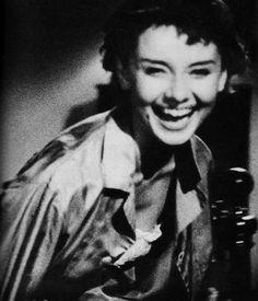 "#Audrey Hepburn~""what a smile"""
