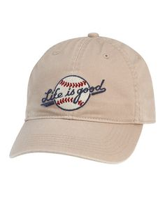 6ba2db61289 Take a look at this Khaki Baseball Chill Cap by Life is good® on