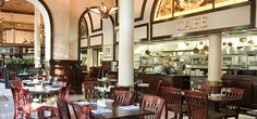 1886 Austin cafe - in a historic hotel downtown.  HH from 5-7 everyday.  supposed to have excellent desserts!