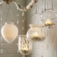 hanging glass hurricanes