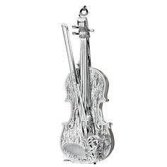 Danbury Mint Silver violin ornament