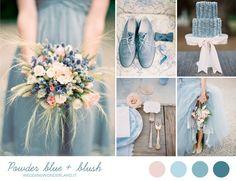 Powder blue and blush wedding inspiration | more on http://weddingwonderland.it/2014/06/matrimonio-azzurro-rosa.html