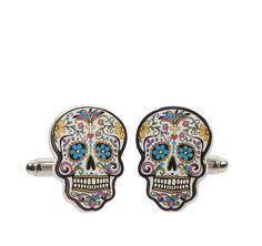 Johnston & Murphy Sugar Skull Cufflinks