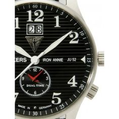 Reloj Junkers 6640-2 Cuarzo Iron Annie Dual Time Negro « Relojesactuales