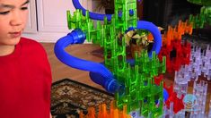 """Q-BA-MAZE 2.0 Mega Stunt Set - Build it, run the marble through, take it apart, and go again!  Q-Ba-Maze 2.0 is great for kids 6 & up.  And we do mean """"up"""".  We've seen college kids go bonkers over this."""