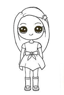 Imagenes Kawaii Cute Drawings Of People, Easy Doodles Drawings, Cute Easy Drawings, Cute Little Drawings, Cute Girl Drawing, Art Drawings Sketches Simple, Kawaii Girl Drawings, Cute Animal Drawings Kawaii, Cute Cartoon Drawings