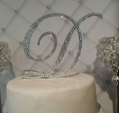 READY TO GO  Monogram Wedding Cake Topper by SpectacularEvents, $60.00