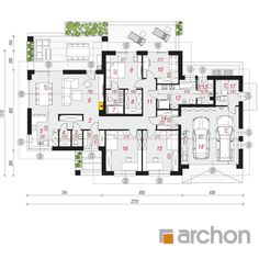 gotowy projekt Dom w alwach 6 rzut parteru Compact House, Home Projects, House Plans, Pergola, Floor Plans, House Design, How To Plan, Swiming Pool, Denim Quilts