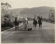Malaga Cove, horse riders in north entrance to Palos Verdes. by Palos Verdes Local History, via Flickr