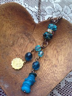 Sagittarius astrology turquoise necklace on Etsy, $32.00