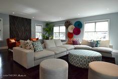 Farmily Room Designed By Color Theory, Boston Globe Magazine Room, Room Design, House, Home, Family Room Sofa, Custom Built Homes, Living Spaces, Cozy Room, Living Design