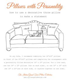 how to arrange pillows on a sofa