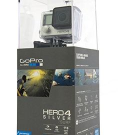 GoPro Hero4 Hero 4 12MP Full HD 4K 15fps 1080p 60fps Built-In Wi-Fi Waterproof Wearable Camera Silver Adventure Edition (32GB) | Action Cameras And Accessories