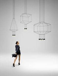 Arik Levy wireflow. Fantastic graphic lamps.