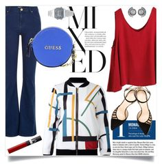 """""""Untitled #381"""" by caroolnunees ❤ liked on Polyvore featuring WithChic, River Island, Garance Doré, Chloe Gosselin, GUESS, Casio, NARS Cosmetics, women's clothing, women and female"""