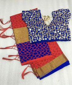 Indian Clothes, Indian Outfits, Mirror Work Blouse, Blouses, Dresses, Style, Vestidos, Swag, Blouse