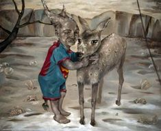 "Saatchi Art is pleased to offer the painting, ""Polar Enchantment with Goblin,"" by andrea bernath. Original Painting: Acrylic on Canvas. Size is 0 H x 0 W x 0 in. Goblin, Original Paintings, Art Painting, Moose Art, Painting, Surrealism, Art, Saatchi Art, Acrylic Painting Canvas"