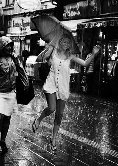 dancing in the rain. :)