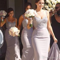 Bridesmaid Dresses 2015 Cheap Spaghetti Straps Lace Beaded Sashes Crystal Long Mermaid For Wedding Plus Size Lilac Long Party Prom Gowns Online with $99.47/Piece on Yes_mrs's Store | DHgate.com