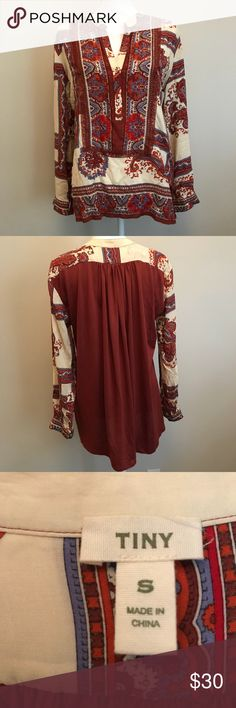 Anthropologie Tiny Boho Top Gorgeous and perfect for the fall and winter! Anthropologie Tops Blouses