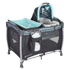 product image for Baby Trend® Laguna Resort Elite Nursery Center Playard in Blue/Grey