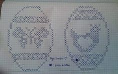 Crochet Symbols, Crochet Doily Patterns, Crochet Diagram, Crochet Motif, Crochet Doilies, Embroidery Patterns, Cross Stitch Embroidery, Cross Stitch Patterns, Easter Crochet