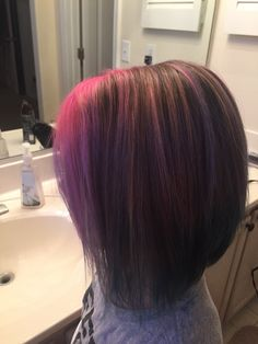 Side angle Kids Hair Color, Pink Ombre Hair, Coloring For Kids, Trendy Hairstyles, Long Hair Styles, Beauty, Trendy Haircuts, Coloring Pages For Kids, Latest Hairstyles