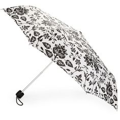 Fulton Minilite Victorian Compact Umbrella ($24) ❤ liked on Polyvore featuring accessories, umbrellas, black, victorian umbrella, folding umbrella, fulton umbrella, fulton and floral umbrella