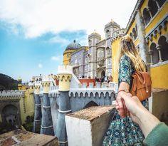 How to get to Sintra Lisbon Portugal Sintra Palacio da Pena follwme