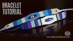 Sea Pearl Striped Beach Bracelet Tutorial by Macrame School (Stylized Eye bracelet). Knotted accessory for the beach and summer season in Boho style. Please ...