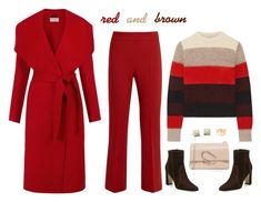 """Red and Brown"" by musicfriend1 ❤ liked on Polyvore featuring MaxMara, Hobbs, rag & bone, Manolo Blahnik, 3.1 Phillip Lim, Shay and Blue Nile"
