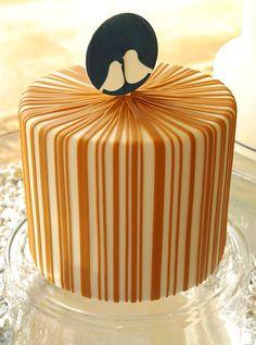 gateaux inc striped bird wedding cake