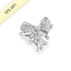 Deco Bow Ring only $12!!