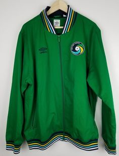 New York Cosmos Umbro MLS Jacket Track Top 3xl GREEN YELLOW WHITE  28d2d8347be