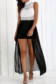 Lace Hollow Out High Slit Chiffon Dress Cheap Party Dresses, Club Party Dresses, Sexy Party Dress, Party Dresses For Women, Formal Dresses, Chiffon Dress, Lace Chiffon, Sammy Dress, Buy Dress