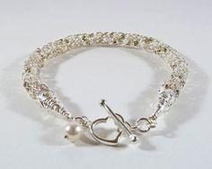 Bridal Bracelet Viking Knit Bracelet by BeauBellaJewellery on Etsy
