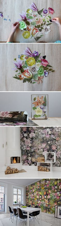 Take a look behind the scenes at the Rebel Walls design department and see how we created our floral wallpaper Meadow with beautiful botanical illustrations and real flowers.