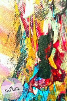 Acrylic color on canvas   Spatula art technique   Abstract Art by Satrini   Interior Design Idea Acrylic Colors, Unique Colors, Interiores Design, Art Techniques, Abstract Art, Canvas, Creative, Painting, Tela