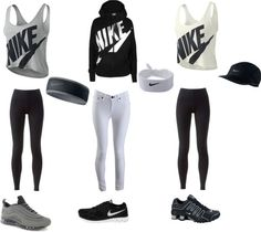 """Nike outfits !"" by tetebama ❤ liked on Polyvore"
