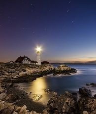 201307 w beautiful lighthouses maine portland head light night