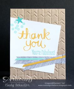 nutmeg creations Watercolor Thank You card by Cindy Schuster