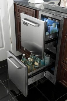 (smaller!) 15 inch Refrigerator Drawers by  Perlick!