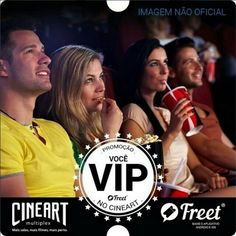Você e seus amigos já estão participando da Promoção Você VIP no Cineart? Procure a imagem oficial da promoção comente usando a hashtag #cineartfreet e marque mais um amigo. Não perca. #cinema #cineart #promoção #vocêvip by cineart_oficial