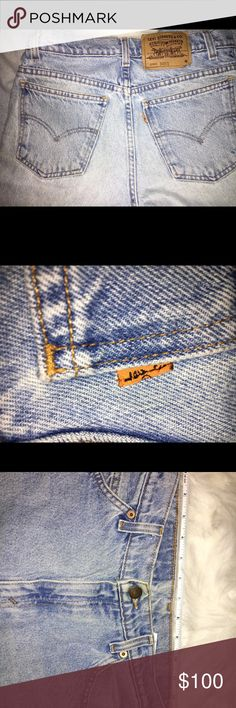 "Vintage Levi's Orange Tag 950 Relaxed fit Tapered Leg Levi's Jeans ""Orange tag"" Waist 14"" laying flat across. Inseam 30"". Of you need any more pics, don't hesitate to ask! 🙂 Levi's Jeans"